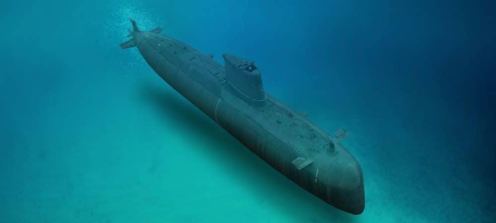 Ilustração de submarino