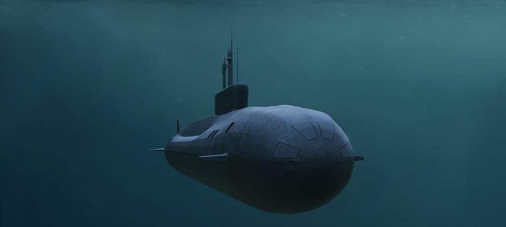 Ilustração de um submarino