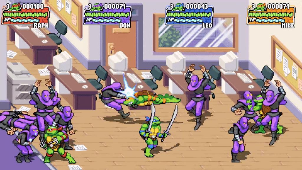 Tartarugas Ninja: Shredder's Revenge' ganha trailer de gameplay. Imagem: Divulgação/Dotemu