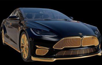 El Tesla más caro del mundo es un Model S bañado en oro y cuesta casi R $ 1,7 millones