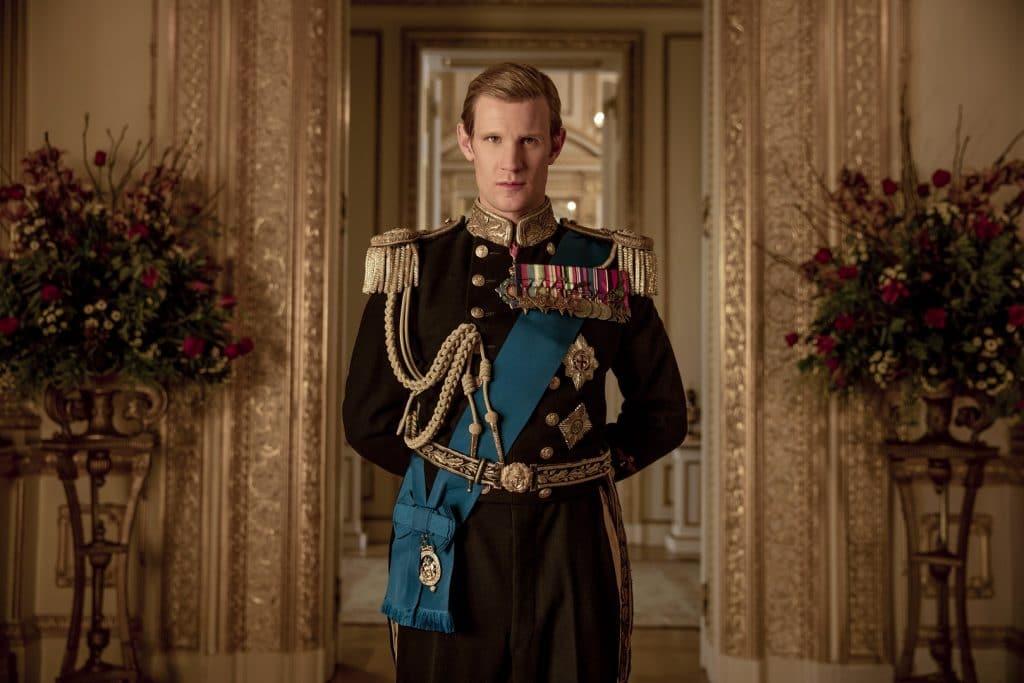 Matt Smith como Philip, Duque de Edinburgo, em 'The Crown'. Imagem: Netflix/Divulgação