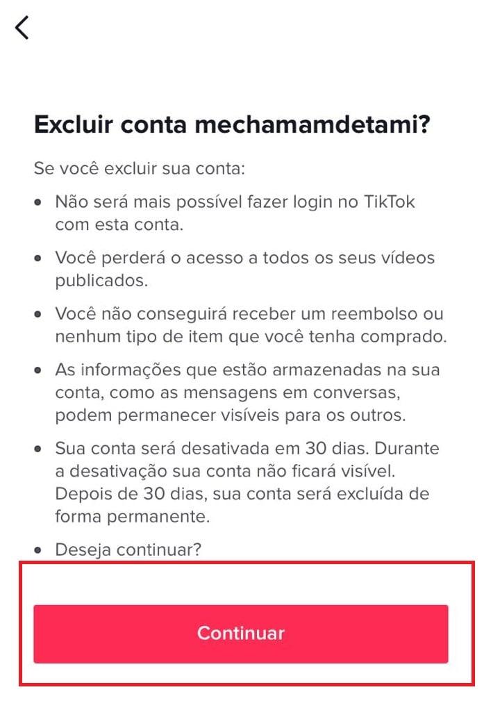 Saiba como excluir sua conta do TikTok. Imagem: Olhar Digital