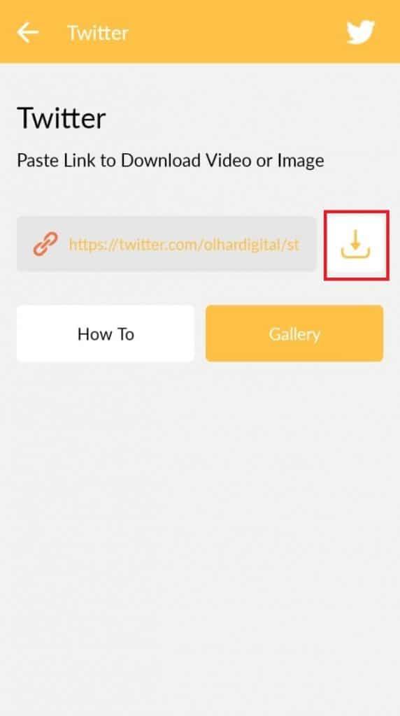 Ícone para baixar vídeo do Twitter pelo Video Downloader