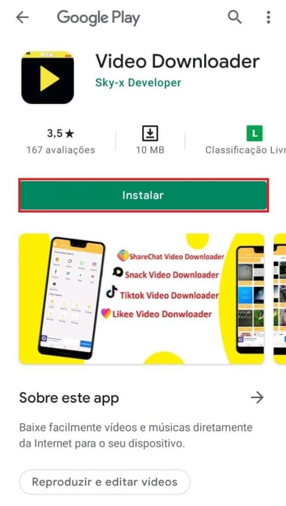 App Video Downloader para Android