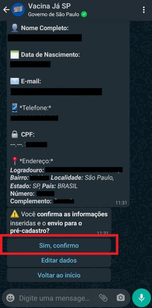 Print do WhatsApp
