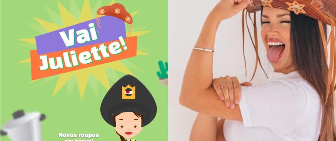 'Go Juliette!': Fan creates mobile game in honor of BBB 21 participant. Image: Reproduction / Google Play Store and TV Globo / Disclosure