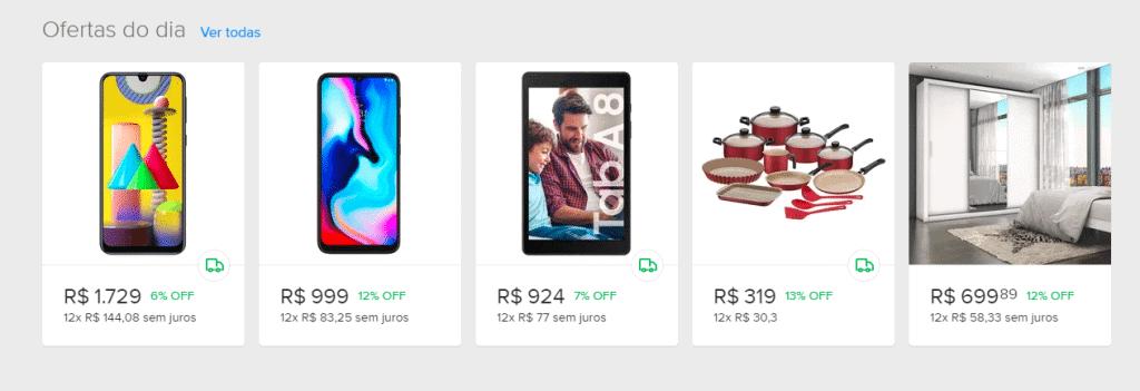 Print da tela de ofertas do dia do Mercado Livre