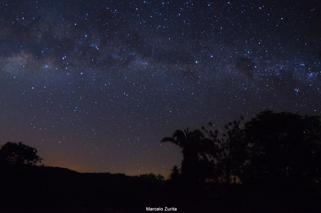 Milky Way and starry sky seen from the rural area of ​​Maturéia, PB. Credits: Marcelo Zurita