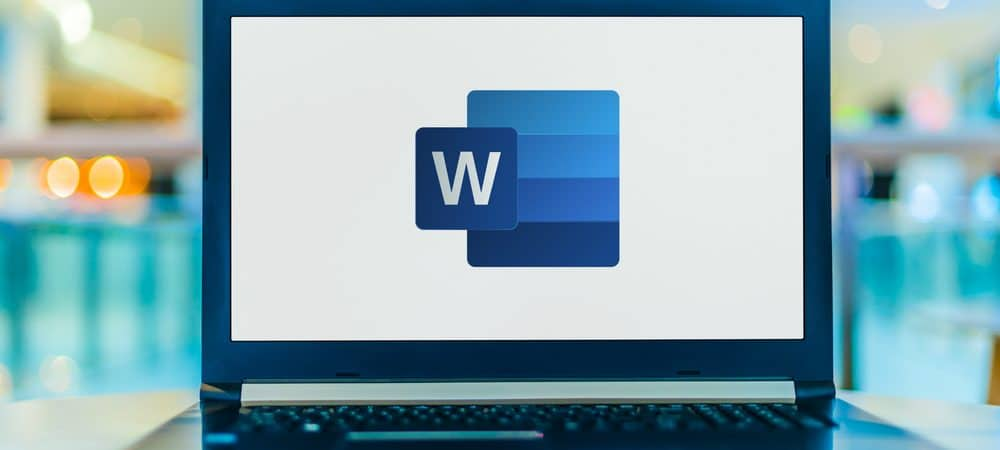 Logo do Word em um computador