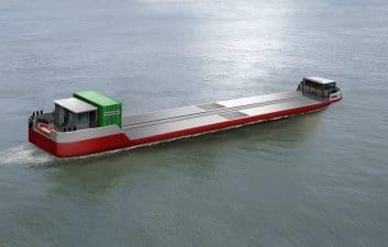 Primeiro navio de carga movido a hidrogênio deve zarpar em breve da França
