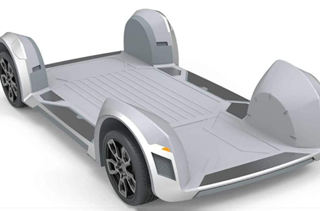 Plataforma plana possui todos os componentes do veículo. Foto: Ree