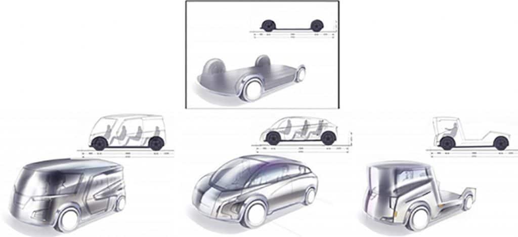 Mudança permite que a mesma base possa ser usada em diversos tipos de veículos. Foto: Ree