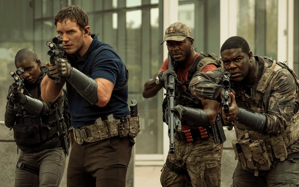 Chris Pratt enfrenta alienígenas em missão futurista. Créditos: Divulgação/Amazon