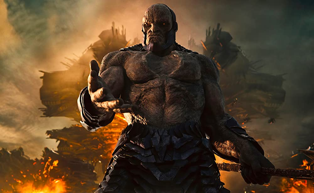 Cena mostra o vilão Darkseid, da versão estendida de Liga da Justiça