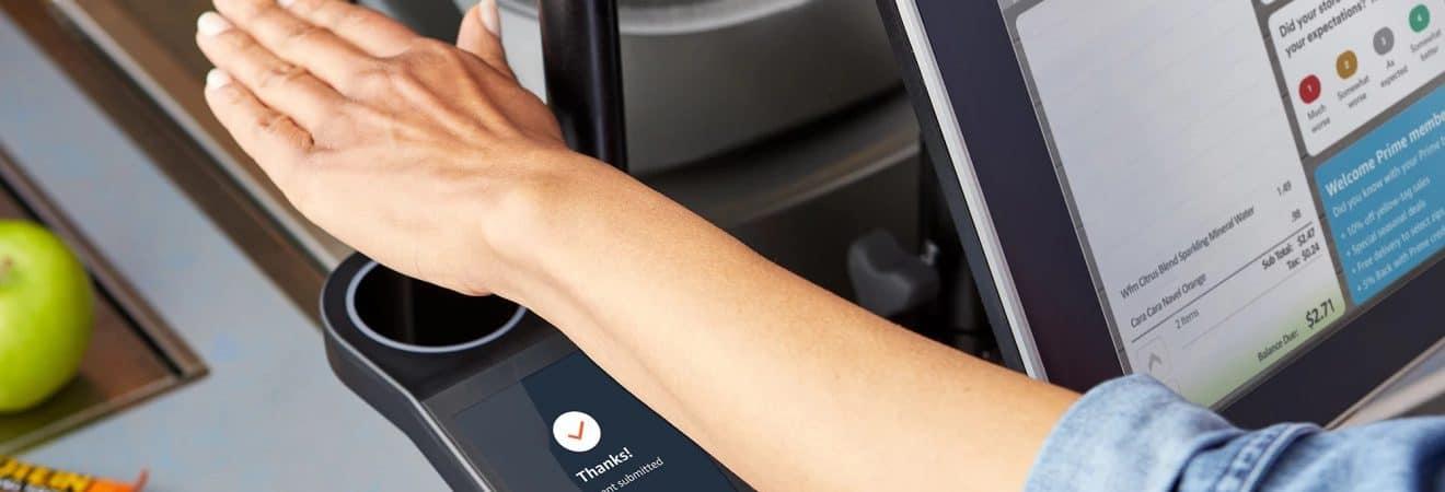 Meio de pagamento por biometria da Amazon One