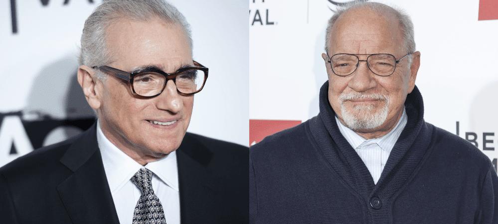 O diretor Martin Scorsese e o roteirista Paul Schrader