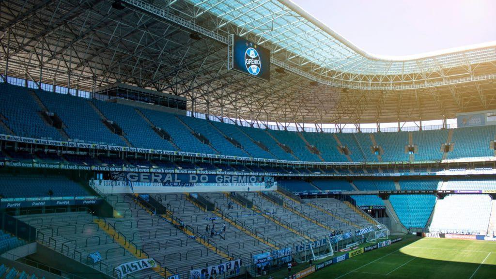 Estádio do Grêmio, que joga pela Libertadores