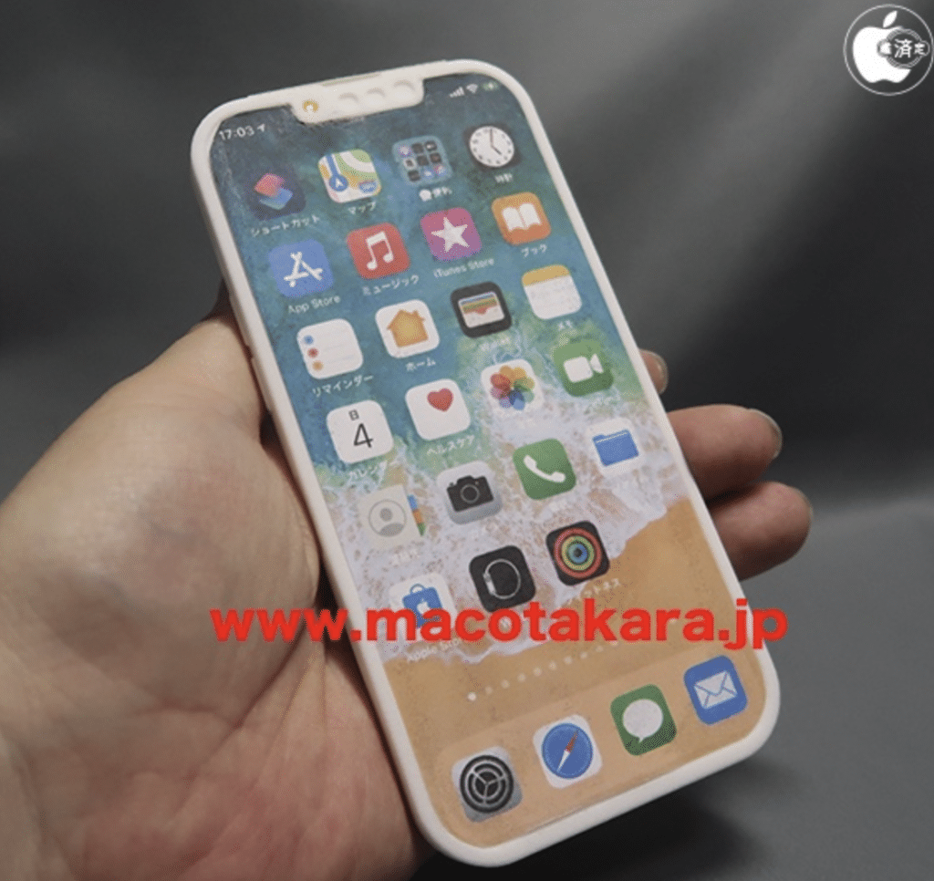 Simulação fictícia novo iPhone 13. Imagem: Macotakara