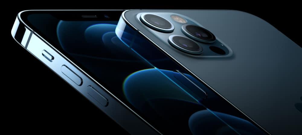 Detalhe das câmeras de um iPhone 12 Pro