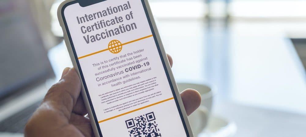 passaportes de vacina