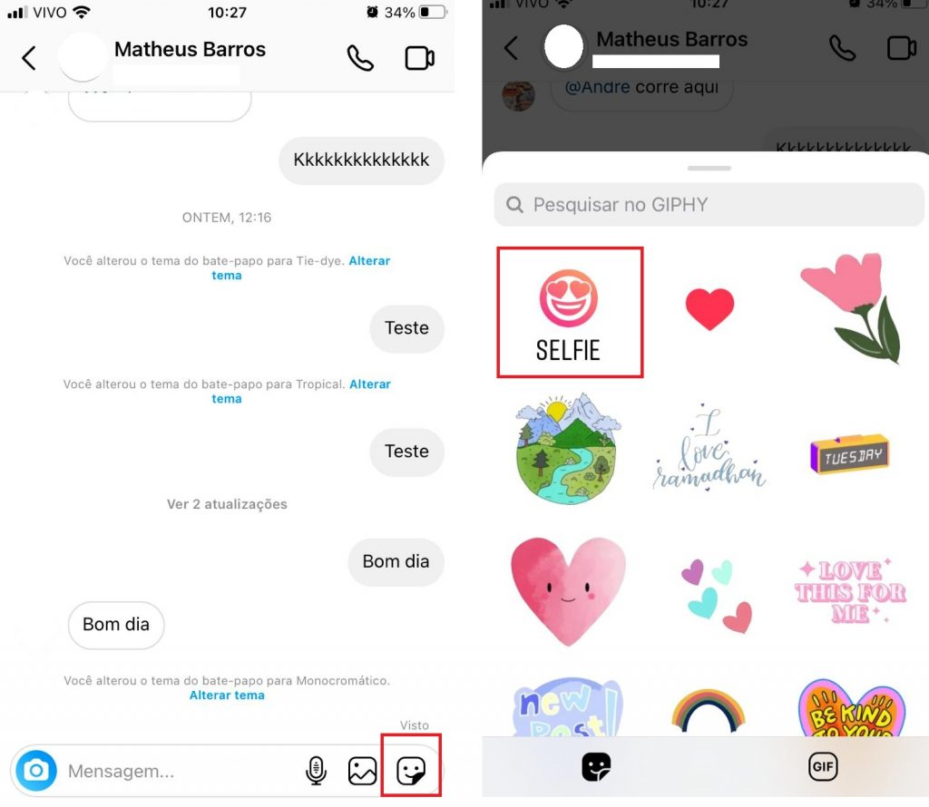 How to send a selfie sticker on Direct? Image: Olhar Digital