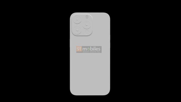 iPhone 13 Pro visto de trás. Módulo de câmera parece maior, o que dá força a rumores de um novo sensor de imagem.