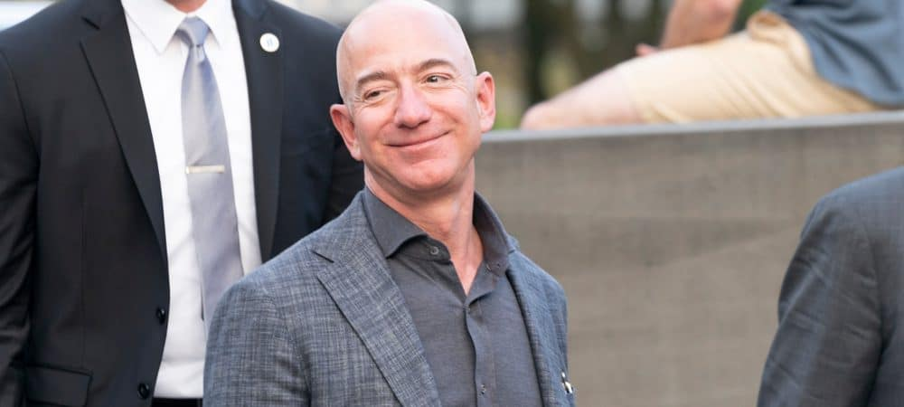 Foto de Jeff Bezos, fundador del minorista Amazon.