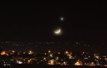 La conjunción entre la Luna y Júpiter ocurre esta mañana