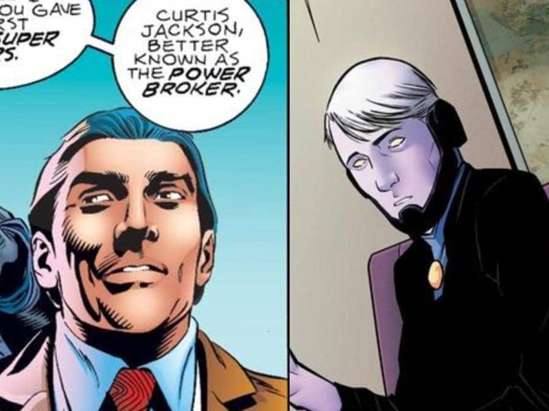 O Mercador do Poder ainda não deu as caras na série 'Falcão e o Soldado Invernal', mas já teve aparências bem diferentes nas HQs. Imagem: Marvel Comics/Reprodução