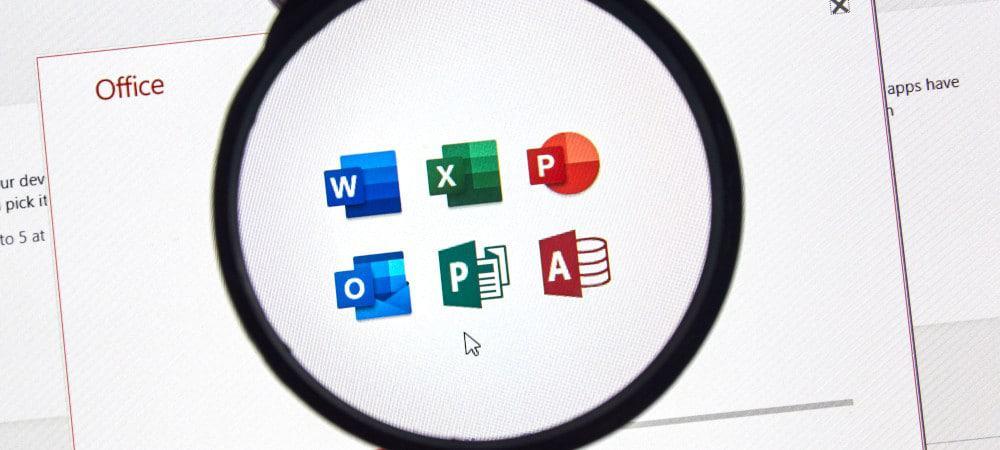 Ícones do Microsoft Office