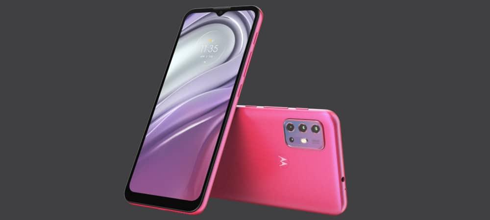 Smartphone Motorola Moto G20 na cor Flamingo Pink