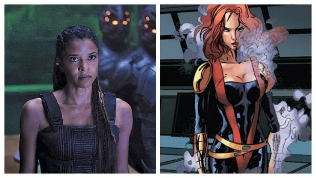 """Montagem mostra a atriz Renée Elise Goldsberry, possivelmente contratada para a série """"Mulher-Hulk"""", e a personagem Amelia Voght, dos quadrinhos da Marvel"""