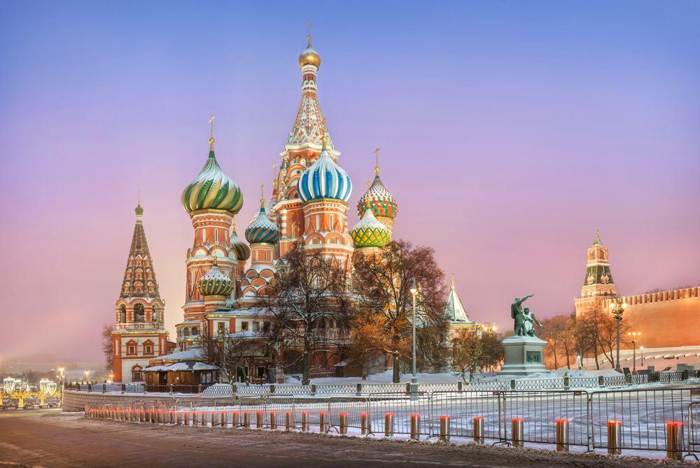 Imagem mostra a Catedral de São Basílio, na Rússia.