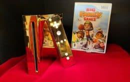 Feito de ouro, Nintendo Wii da Rainha Elizabeth II está à venda por R$ 1,61 milhão