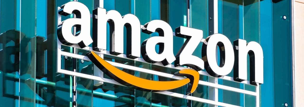 Fachada de empresa da Amazon
