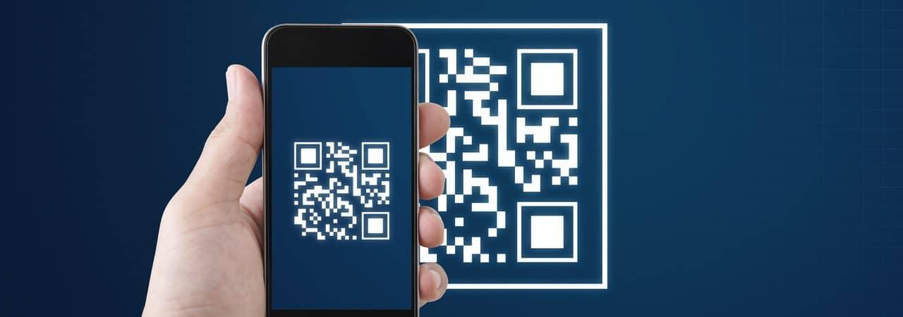 Ilustração de QR Code lido por um smartphone