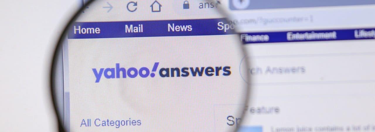 Site do Yahoo Respostas