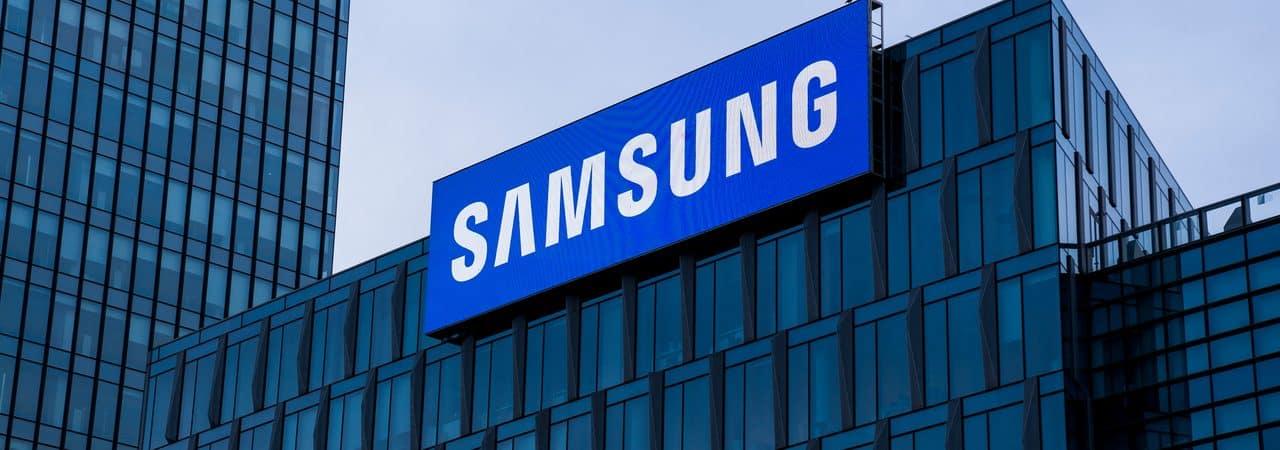 Fachada da empresa Samsung