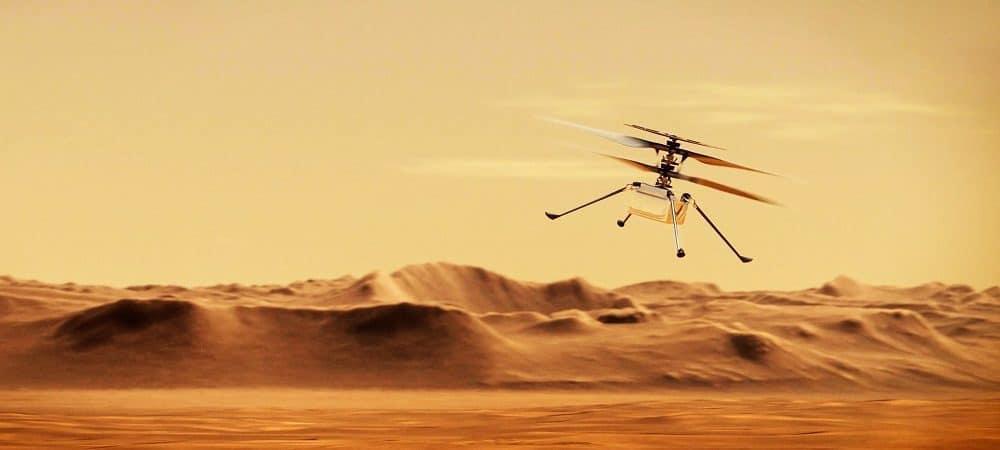 Ingenuity explora Marte Imagem: Shutterstock