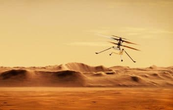 Historic flight: Ingenuity is due to take off on Mars at dawn on Monday