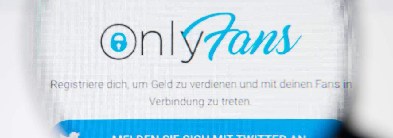 Site do OnlyFans sob a ótica de uma lupa