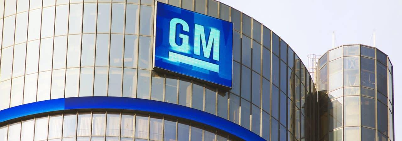 Fachada del fabricante de automóviles GM