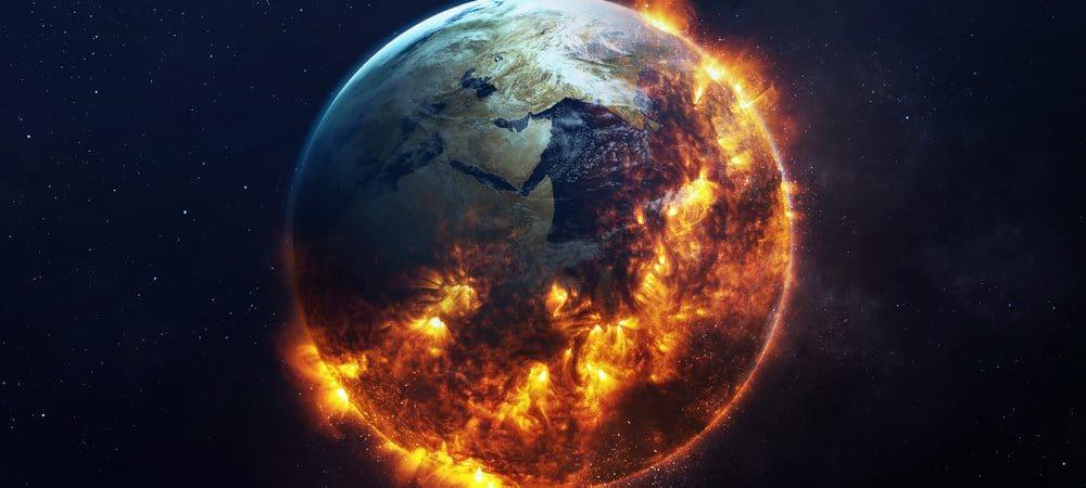 Ilustração conceito catástrofe global
