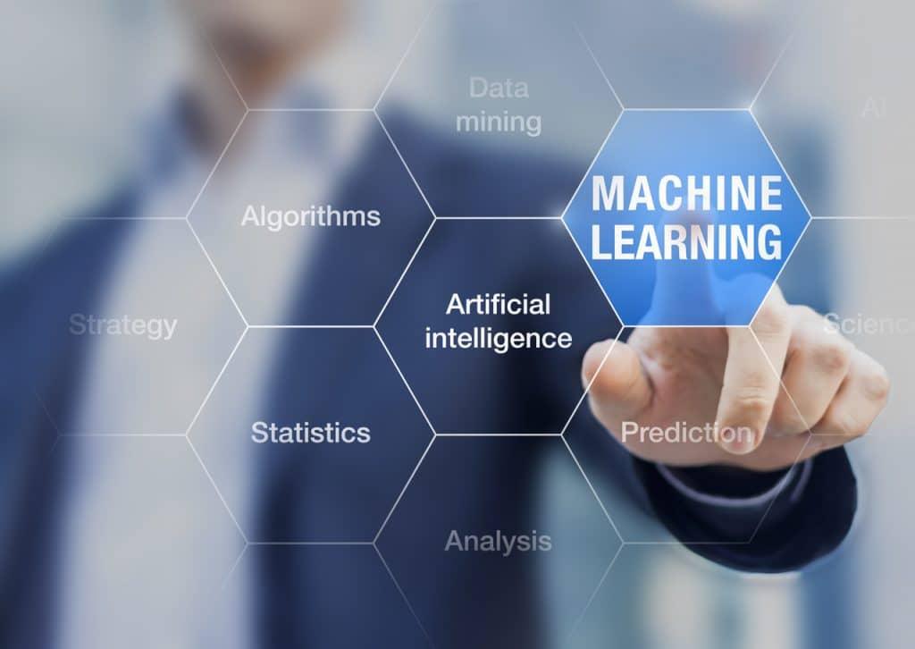 Ilustração de machine learning
