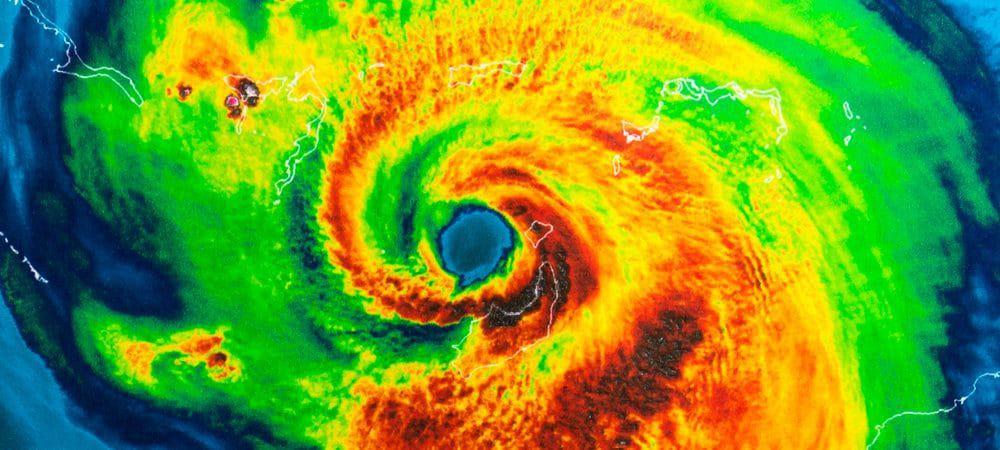 Olho do furacão Irma