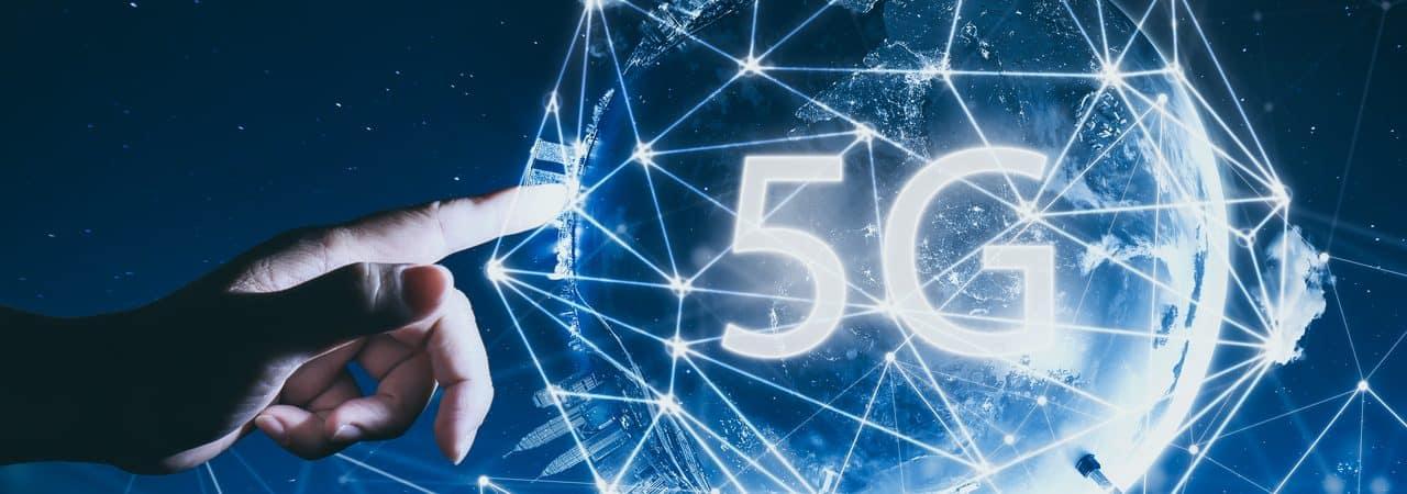 Ilustração representando a tecnologia 5G