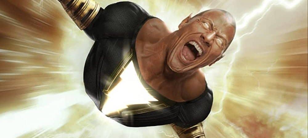 The Rock como Adão Negro, o vilão da DC Comics'