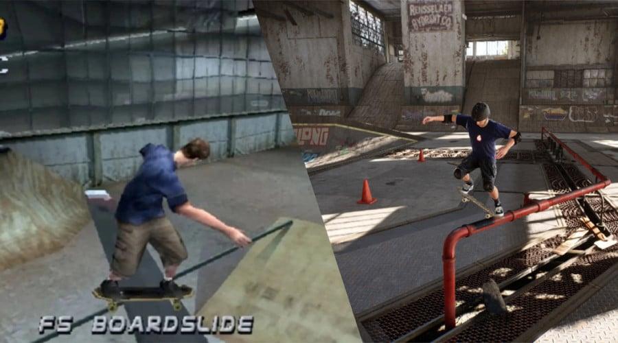 Comparação entre os jogos da franquia 'Tony Hawk'