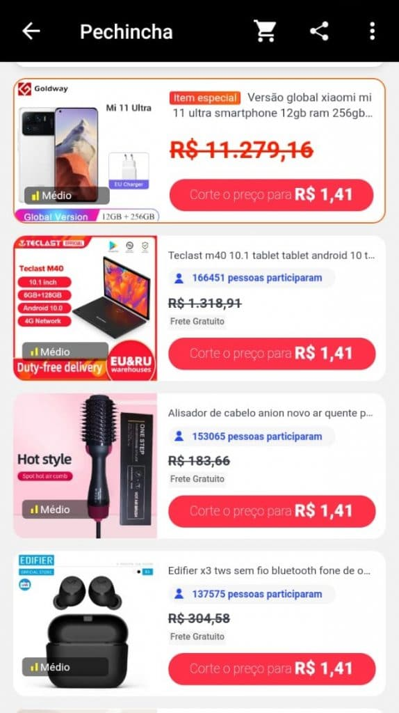 """Productos elegibles del canal """"Ofertas"""""""
