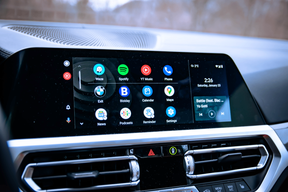 Android Auto no painel de automóvel